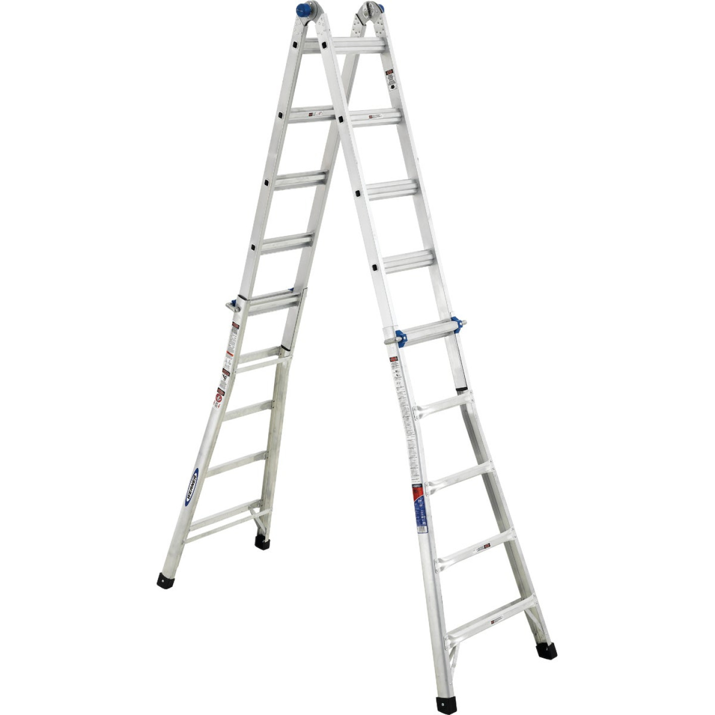 Werner 22 Ft. Aluminum Multi-Position Telescoping Ladder with 300 Lb. Load Capacity Type IA Ladder Rating Image 6