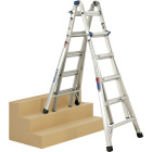 Werner 22 Ft. Aluminum Multi-Position Telescoping Ladder with 300 Lb. Load Capacity Type IA Ladder Rating Image 8