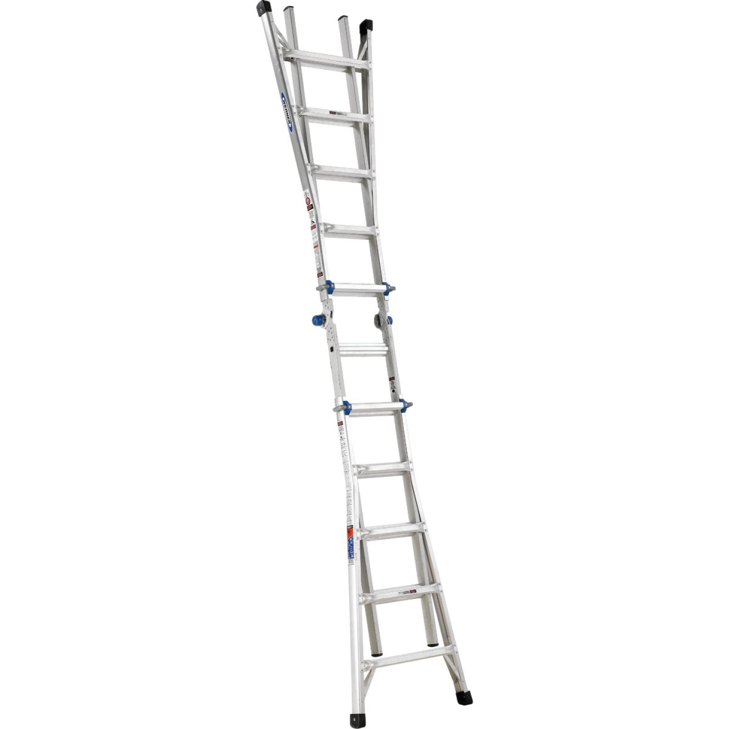 Werner 22 Ft. Aluminum Multi-Position Telescoping Ladder with 300 Lb. Load Capacity Type IA Ladder Rating Image 9