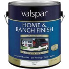 Valspar Exterior Latex Self Priming Flat Home And Ranch Finish, White, 1 Gal. Image 1