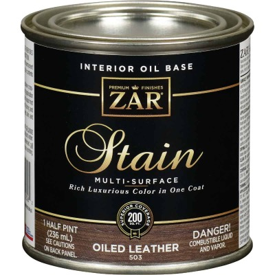 Zar 1/2 Pt. Oiled Leather Oil-Based Multi-Surface Interior Stain