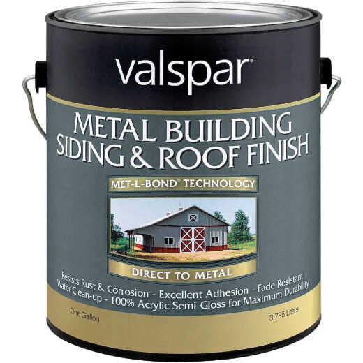 Valspar Gallon White Semi-Gloss Metal Building Paint
