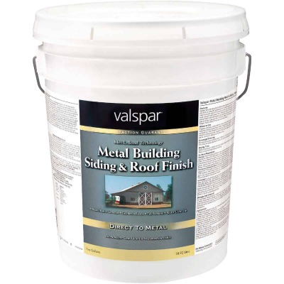 Valspar 5 Gal White Semi-Gloss Metal Building Paint