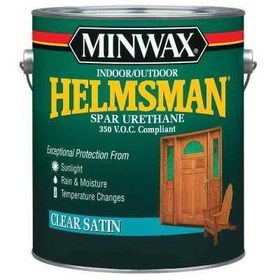 Minwax Helmsman VOC Satin Spar Interior & Exterior Varnish, Gallon