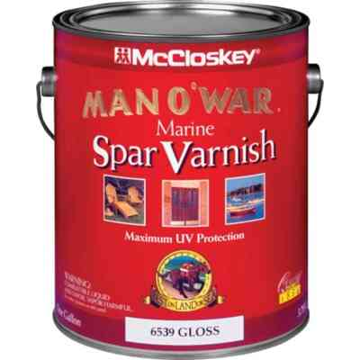 McCloskey Man O'War Gloss Low VOC Marine Spar Interior & Exterior Varnish, Gallon