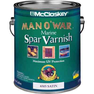 McCloskey Man O'War VOC Satin Spar Interior & Exterior Varnish, Gallon