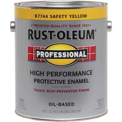 Rust-Oleum Professional Oil-Based Gloss VOC Formula Rust Control Enamel, Safety Yellow, 1 Gal.