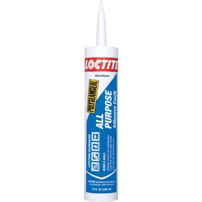 LOCTITE POLYSEAMSEAL 10 Oz. White Adhesive Caulk