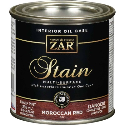 Zar 1/2 Pt. Moroccan Red Oil-Based Multi-Surface Interior Stain