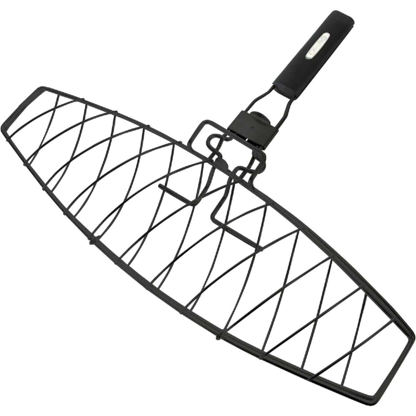 GrillPro 6.25 In. W. Steel Grill Fish Basket Image 1