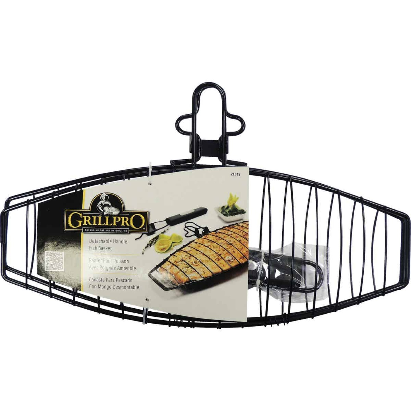 GrillPro 6.25 In. W. Steel Grill Fish Basket Image 2