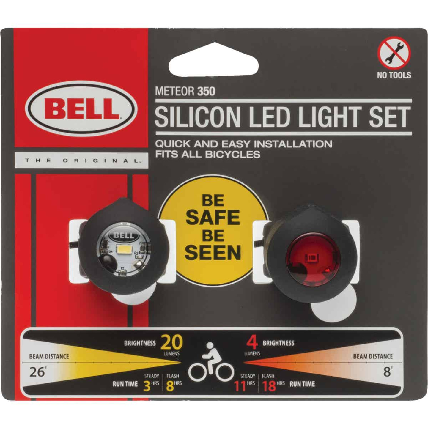 Bell Sports 1 Clear/1 Red LED Bicycle Light Set Image 1