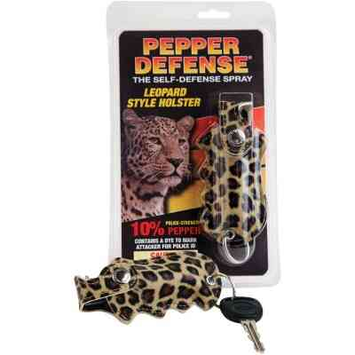 Pepper Defense 10% Pepper .5 oz Leopard Self-Defense Spray