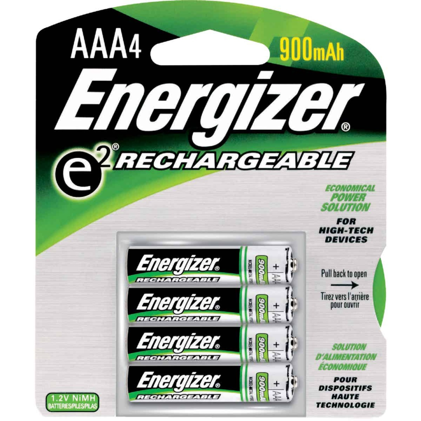 Energizer Recharge AAA NiMH Rechargeable Battery (4-Pack) Image 1