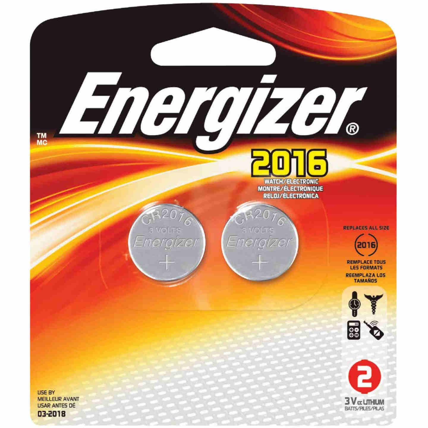Energizer 2016 Lithium Coin Cell Battery (2-Pack) Image 1