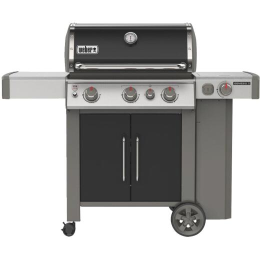 Weber Genesis II E-335 3-Burner Black 39,000 BTU LP Gas Grill with 12,000 BTU Side Burner