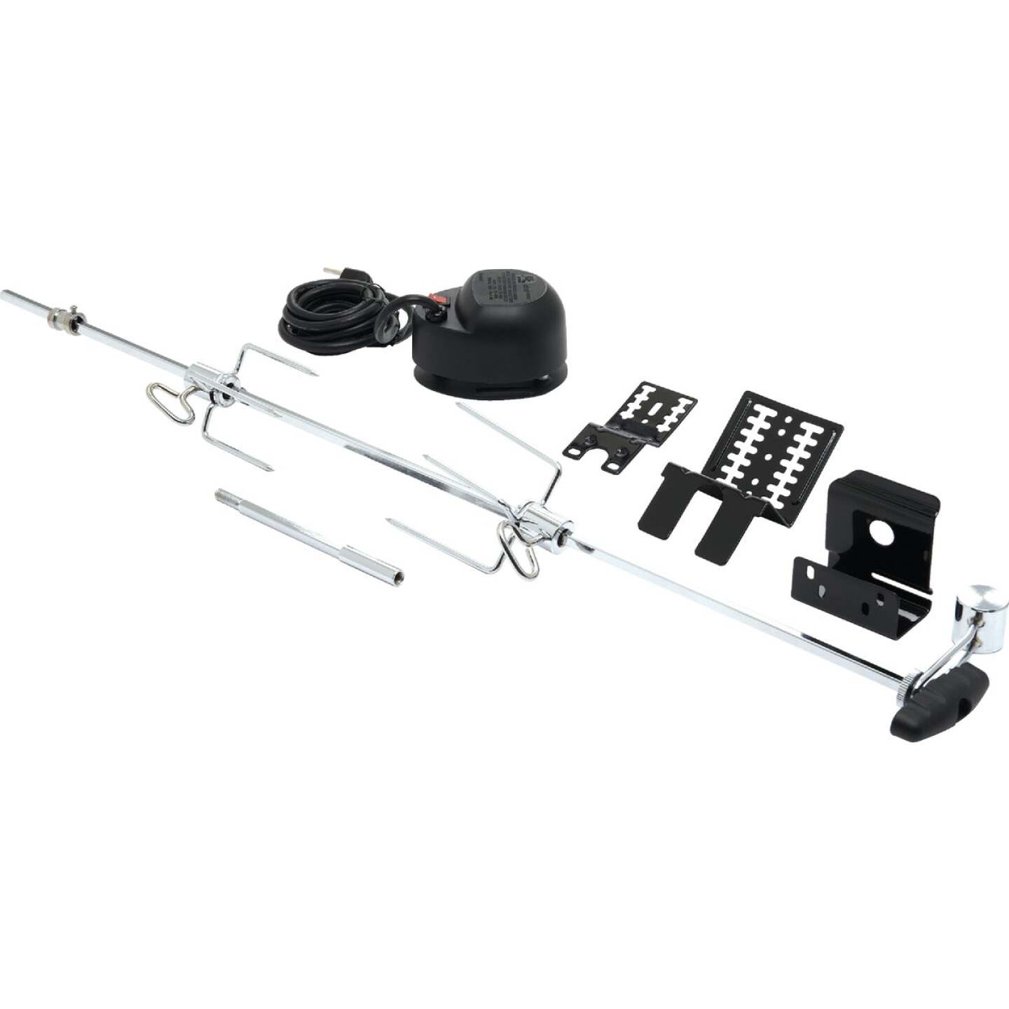GrillPro 33.5 In. Aluminum Universal Grill Rotisserie Image 1
