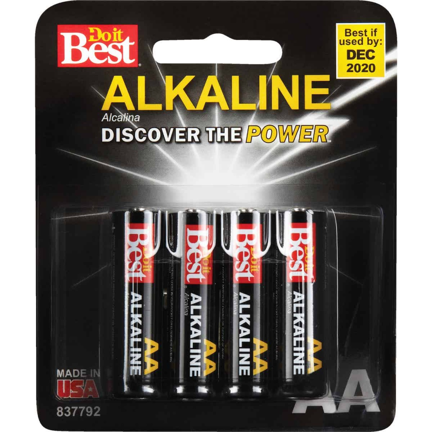 Do it Best AA Alkaline Battery (4-Pack) Image 2