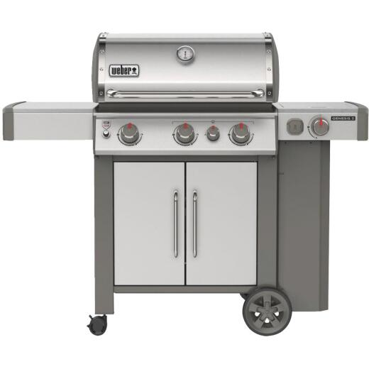 Weber Genesis II S-335 3-Burner Stainless Steel 39,000 BTU LP Gas Grill with 12,000 BTU Side Burner
