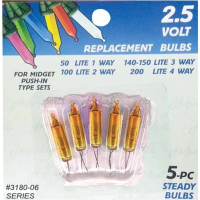 J Hofert Mini Gold 2.5V Replacement Light Bulb (5-Pack)