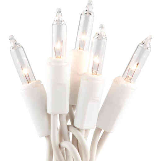 J Hofert Clear 300-Bulb Mini Incandescent Flashing Icicle Light Set with White Wire