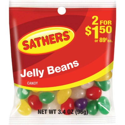 Sathers Assorted Fruit Flavors 3.4 Oz. Jelly Beans