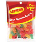 Gurley's Assorted Sour Fruit Flavors 2.5 Oz. Gummy Bears Image 1