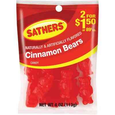 Gurley's 3.5 Oz. Cinnamon Bears Candy