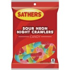 Sathers Assorted Sour Fruit Flavors 5.5 Oz. Neon Night Crawlers Image 1