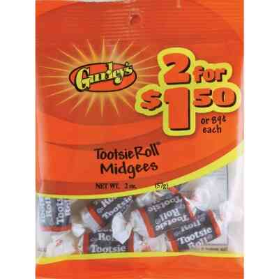 Gurley's 1.75 Oz. Tootsie Roll Midgees